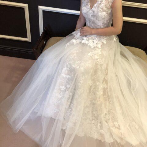 ウェディングドレス チュール