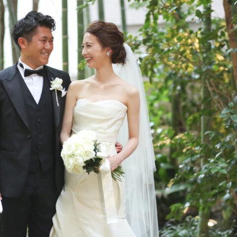 フォーチュンガーデン京都挙式でマーメイドのモニークルイリエのドレス