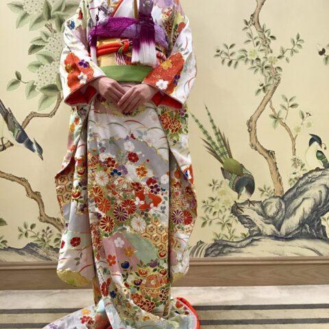 おしゃれな本振袖を京都のFORTUNE GARDEN KYOTOの前撮り