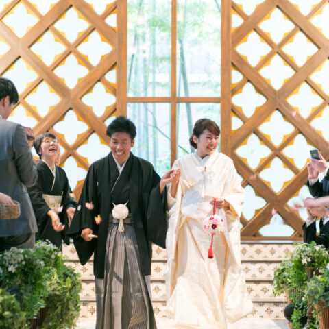 フォーチュンガーデン京都で和装人前式で挙げられた白無垢の新婦様
