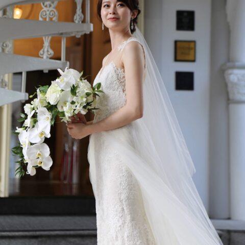 モニーク・ルイリエの2wayのウェディングドレス
