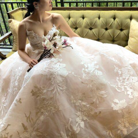 ロマンチックなウェディングドレス