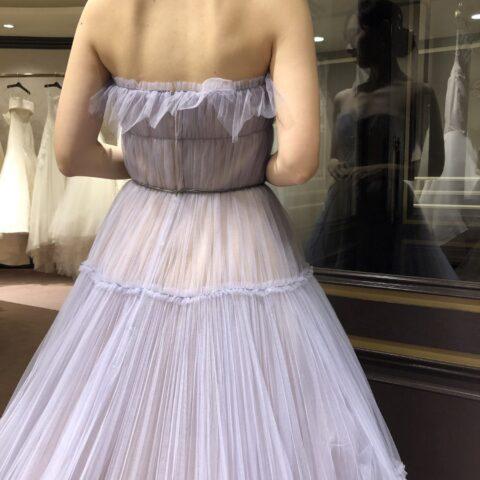 長野結婚式 藤屋御本陣 カラードレス くすみパープル
