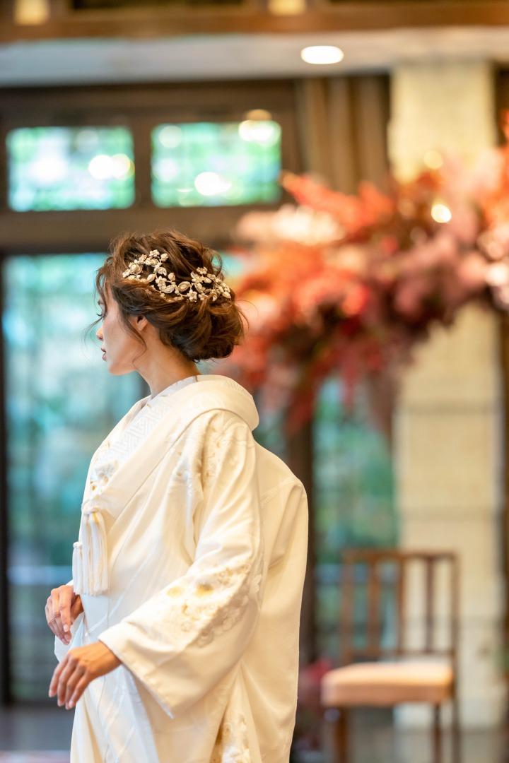 京都の和婚におすすめの白無垢に合わせる髪飾り