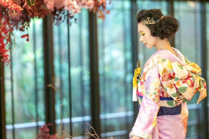 トリート京都店のパステルカラーが美しい古典柄の本振袖