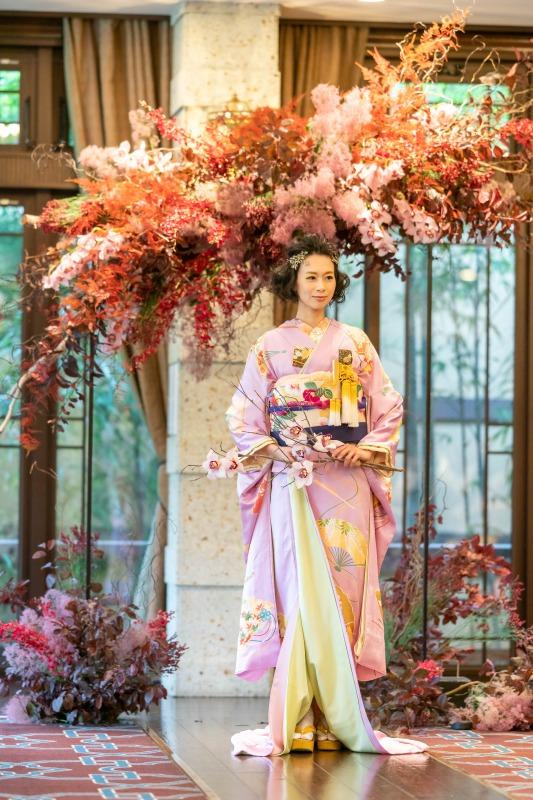 京都の和婚で人気のトリートの本振袖のコーディネート