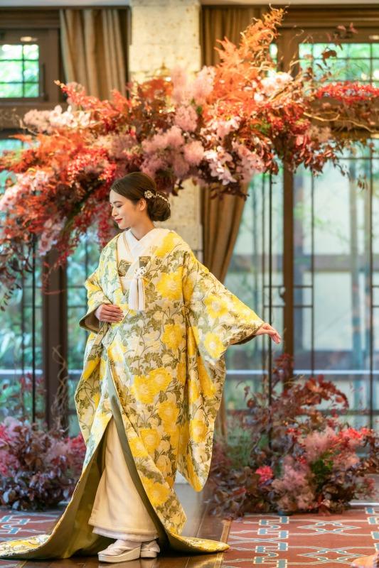 京都の結婚式会場ザ・ソウドウ・ヒガシヤマ京都にてザ・トリート・ドレッシングの新作オリジナル和装の色打掛を初公開