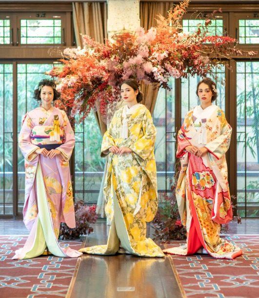 トリート京都店とソウドウの和装ショーで使用したオリジナル和装のコーディネート