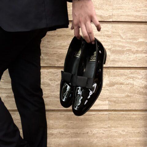 オリエンタルホテル神戸での挙式に使用する新郎のオペラパンプス