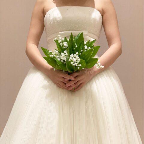 プリンセスラインの新作ウエディングドレス