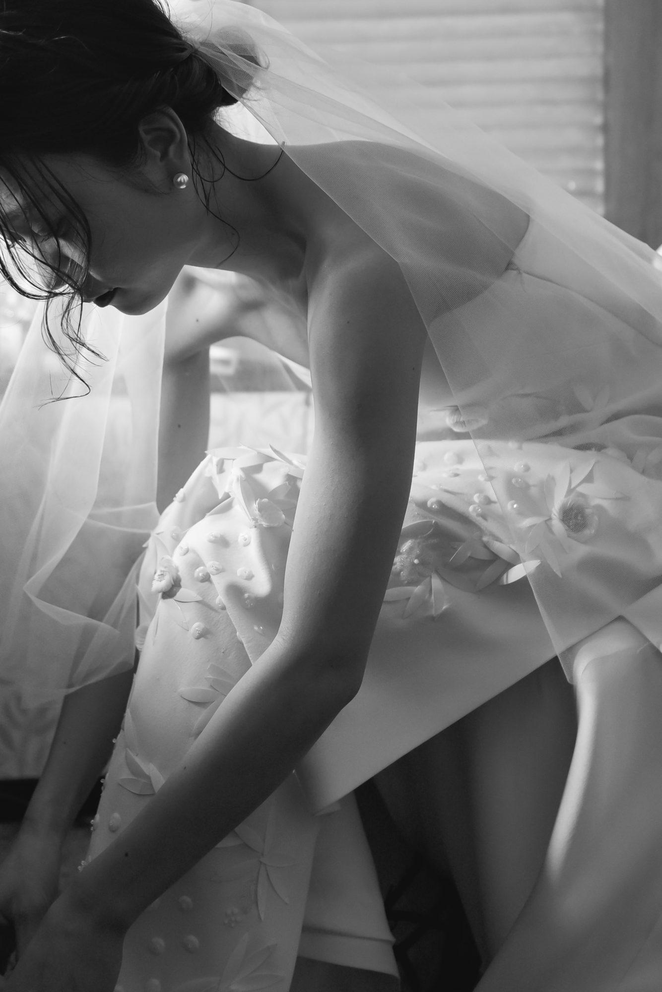 ザトリートドレッシングの人気のブランドのデルポソのウエディングドレス