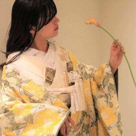 東京の表参道にあるドレスショップがオリジナルでてがけた色打掛