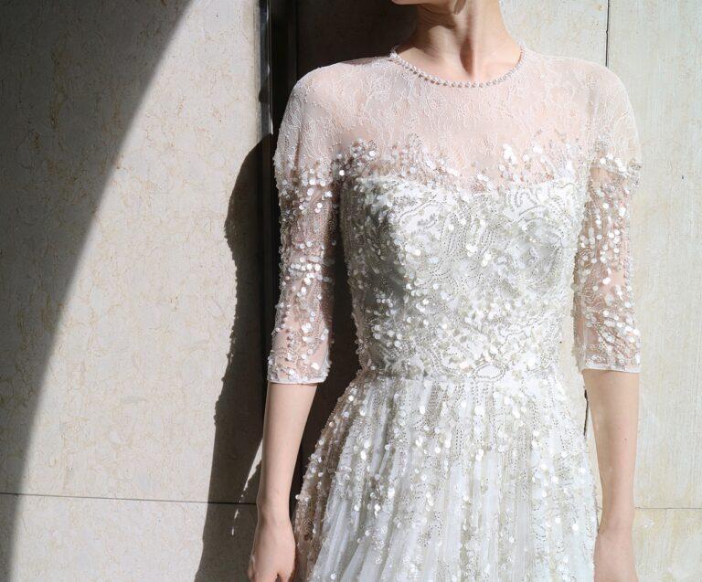 マイナビウエディングにて吉川愛さんにお召しいただいたJenny Packham(ジェニー・パッカム)のウエディングドレス