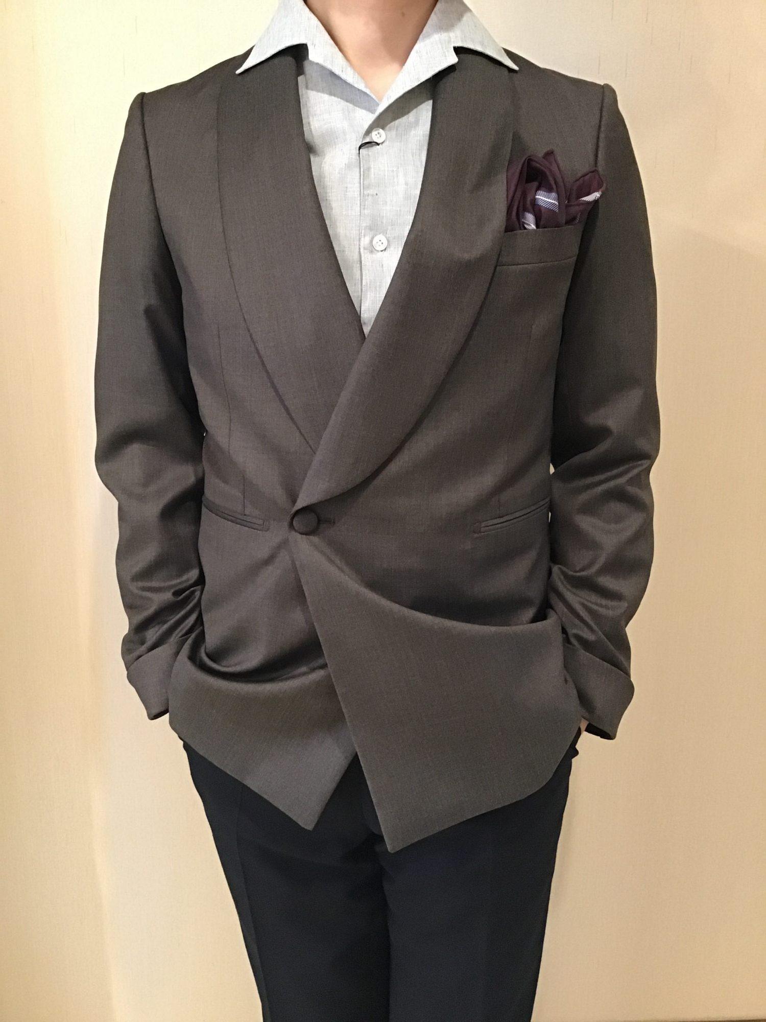 フォーチュンガーデン京都でお式を挙げる新郎様にご提案したい新作のタキシードジャケット