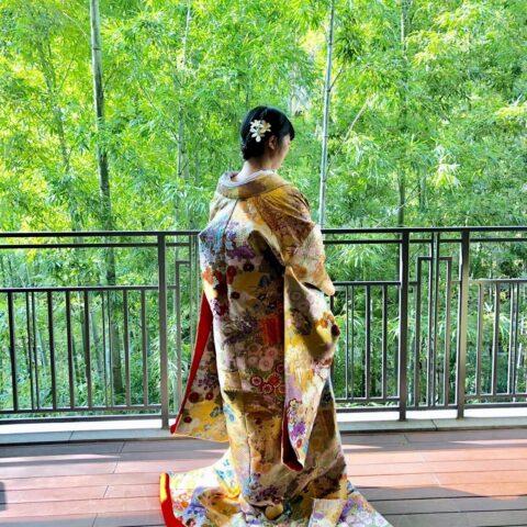 フォーチュンガーデン京都でお式を挙げられる方にザ・トリートドレッシングがご提案したい鮮やかな色味と模様が美しい華やかな色打掛