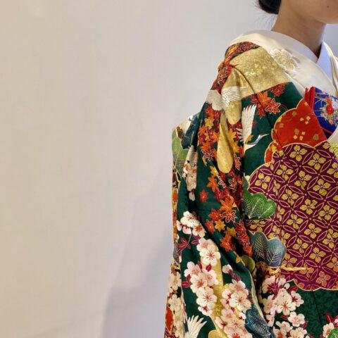 トリート京都店がご提案する、色打掛のお色直しスタイルのご紹介