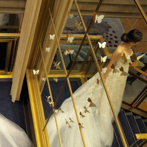 ザトリートドレッシングのトレーンの長いチュールのドレス