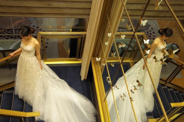 フォトジェニックな美しいウエディングドレス