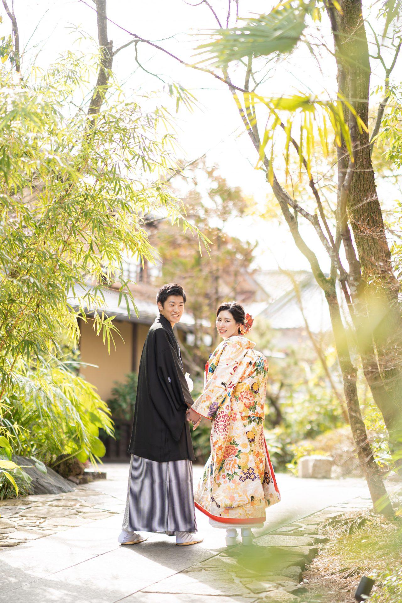 京都の結婚式場THE SODOH HIGASHIYAMAでの和装前撮り