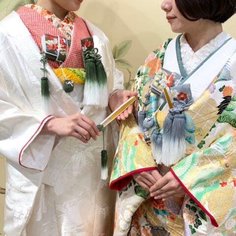 フォーチュンガーデン京都でお式を挙げられるお客様にご提案したい白無垢のコーディネートと色打掛のコーディネート