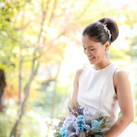 藤屋御本陣にてトリートのアムサーラのウェディングドレスに身を包んだ花嫁様