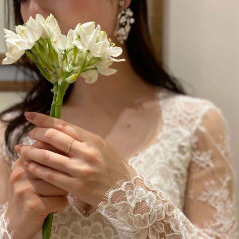 ナチュラルな結婚式をイメージの花嫁様にお届けしたいTHE TREAT DRESSINGのウェディングドレス