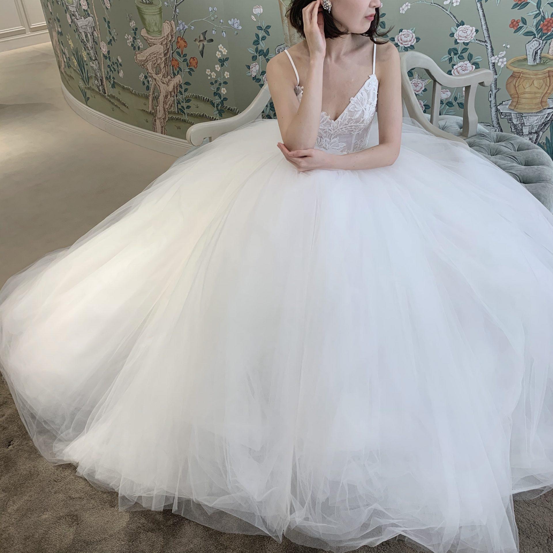 フォーチュンガーデン京都で結婚式を挙げられる花嫁様におすすめしたいプリンセスラインのウェディングドレス