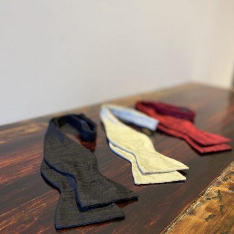 ザ・トリート・ドレッシング京都店がご提案するシャンタン素材を用いた上品で華やかなアットヴァンヌッチのボウタイ