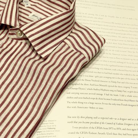 オリエンタルホテルの専属ドレスショップトリートドレッシング旧居留地店に入荷したばかりのイタリアブランドのメンズシャツ