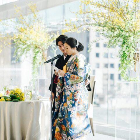 THETREATDRESSING アディション店では、パレスホテル東京の葵西のような広い会場にも映える和装のコーディネートもご提案しております。