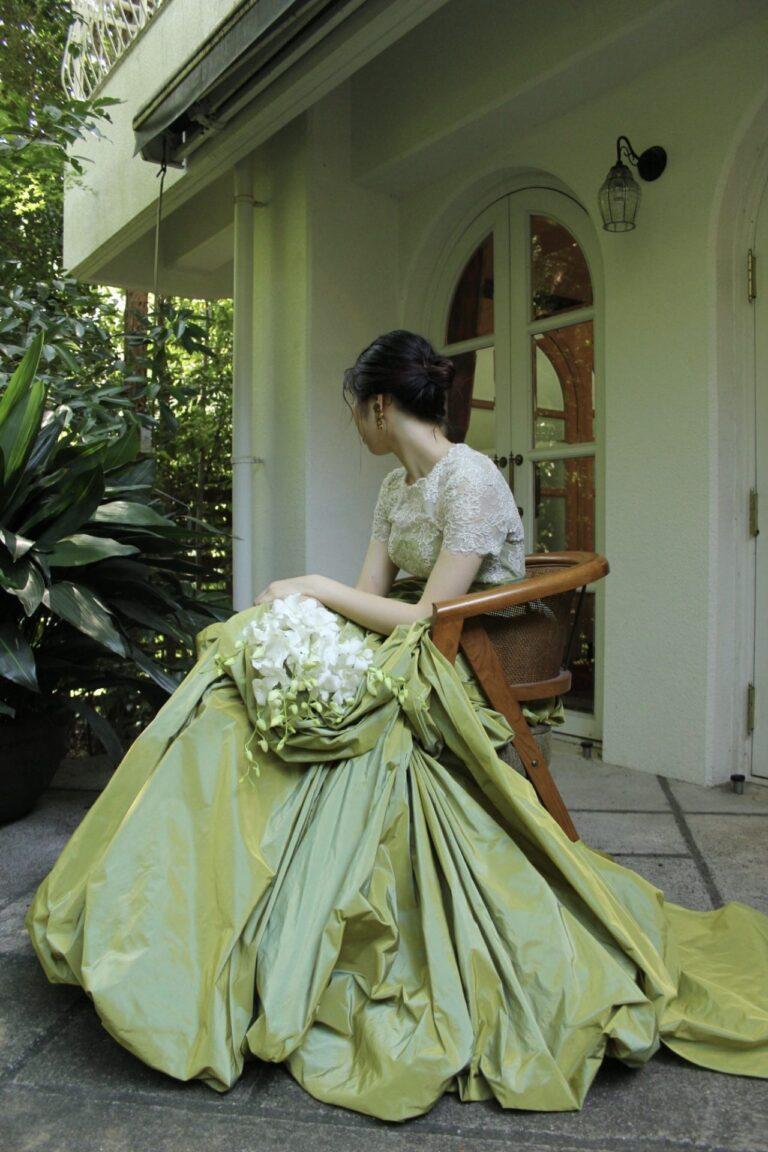 カラードレスのご紹介~GREEN・ORANGE~at THE NANZAN HOUSE(ザ  ナンザン  ハウス)