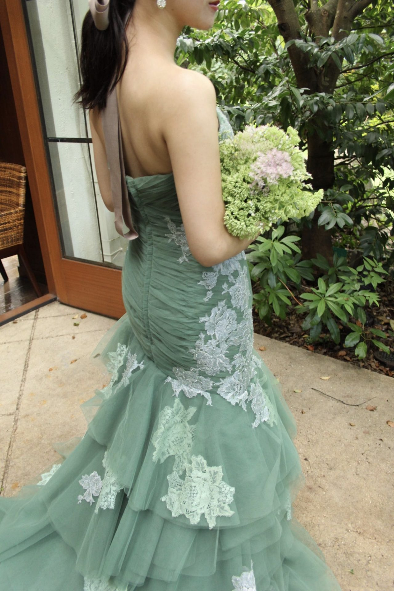 ザナンザンハウスにオススメのグリーンのカラードレスのご紹介