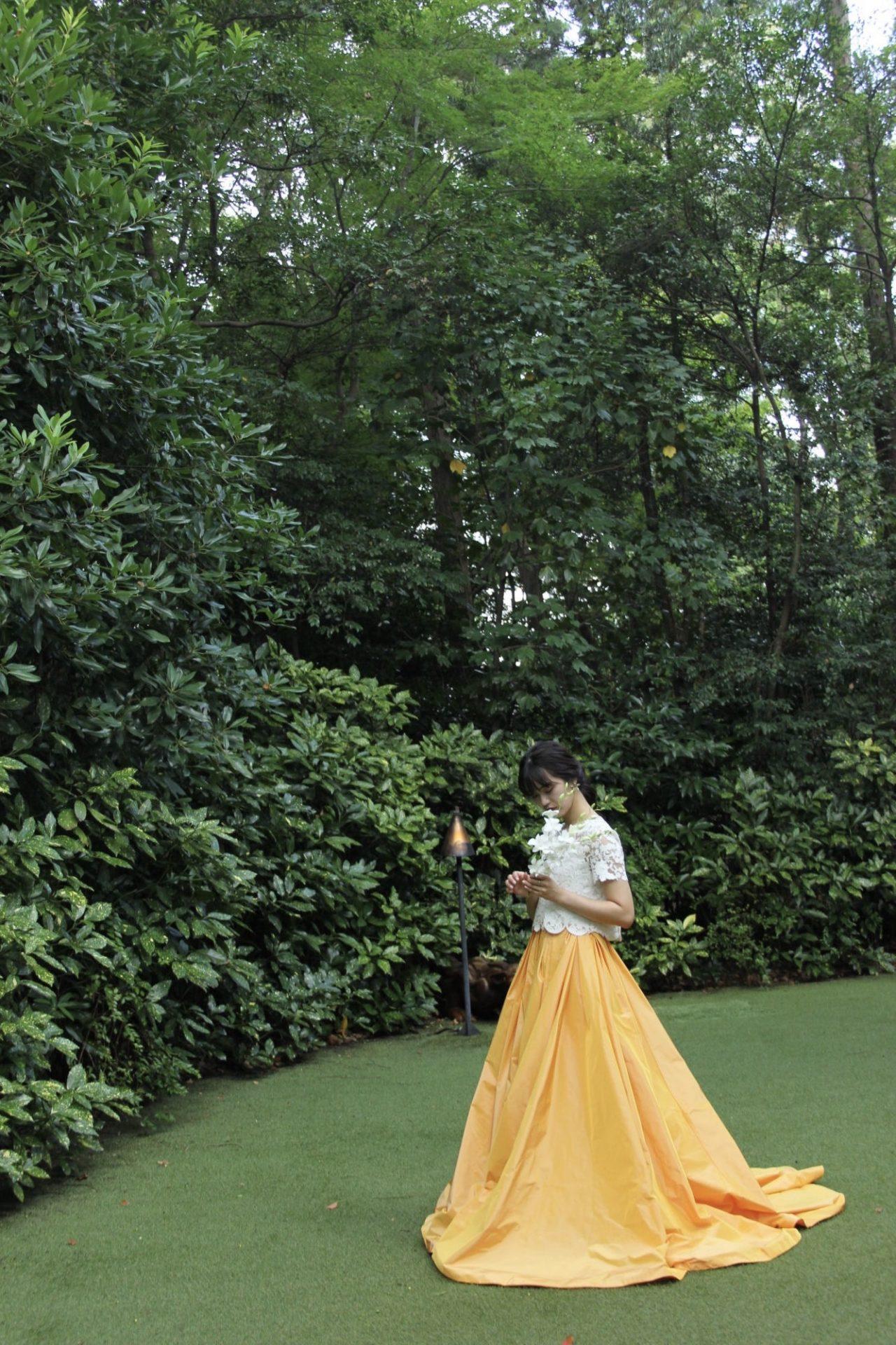ザナンザンハウスにオススメのオレンジのカラードレスのご紹介