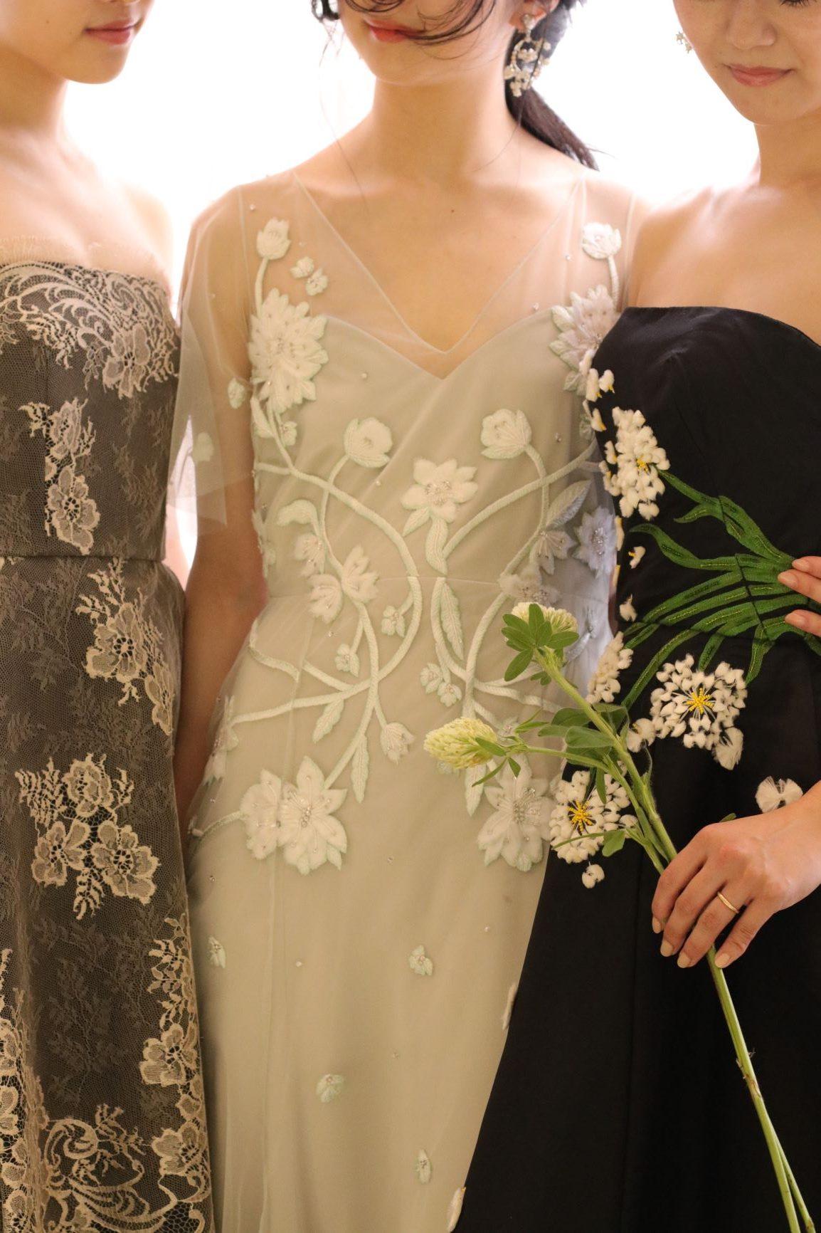 東京表参道にあるドレスショップ、ザ・トリート・ドレッシングでは海外ブランドより買い付けた、色味もデザインもどこにでもありそうでどこにもない、心くすぐられるカラードレスがレンタル可能です