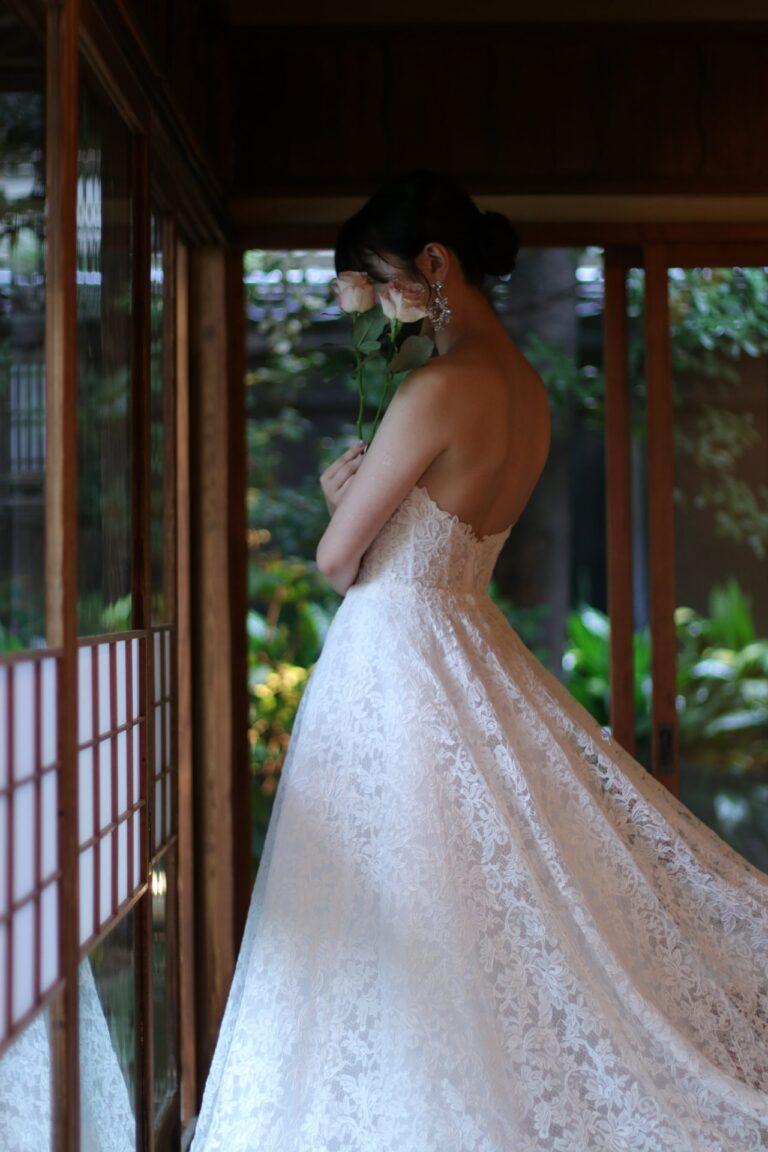料亭 河文におすすめのウエディングドレスのご紹介~Monique Lhuillier(モニーク・ルイリエ)~