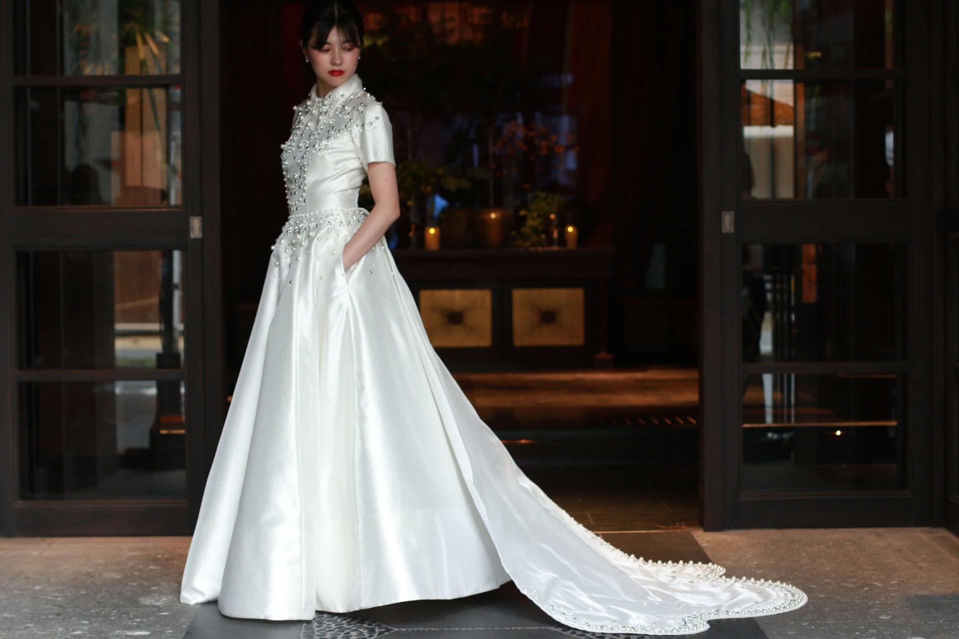 THE TREAT DRESSING 名古屋店の提携会場ザ・カワブンナゴヤにおすすめのウェディングドレスのコーディネート
