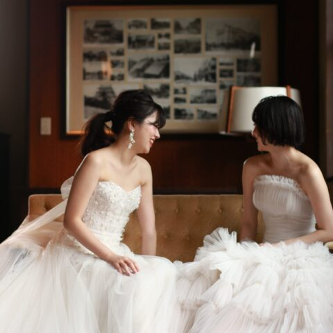 THE KAWABUN NAGOYAでお式をされる花嫁様におすすめのミラ・ズウィリンガーのウェディングドレス