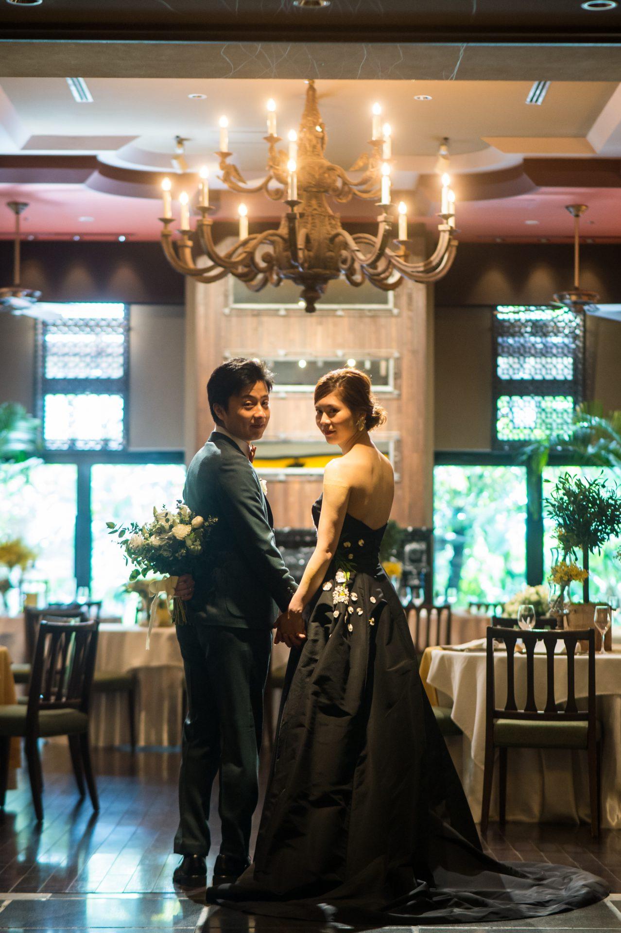 ザ・ルイガンズの披露宴会場グランドガーデンではロマンティックな前撮りが叶います