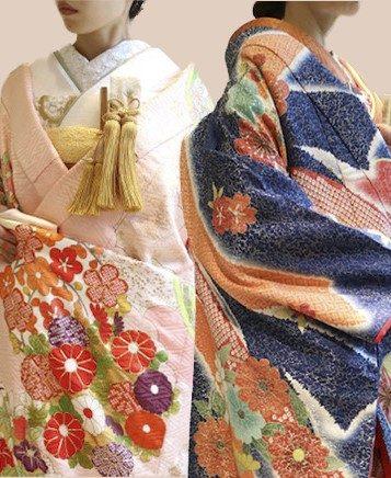 京都の結婚式会場におすすめの和装コーディネートのご紹介 ~紺色と桃色の色打掛~