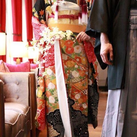 都内の人気ドレスショップ、THETREATDRESSIN ADDITION店ではウェディングドレスやカラードレスだけでなくお和装のお取り扱いもございます
