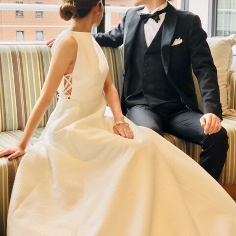 横浜みなとみらいでの結婚式後の二次会、パーティにおすすめのドレスコーディネート