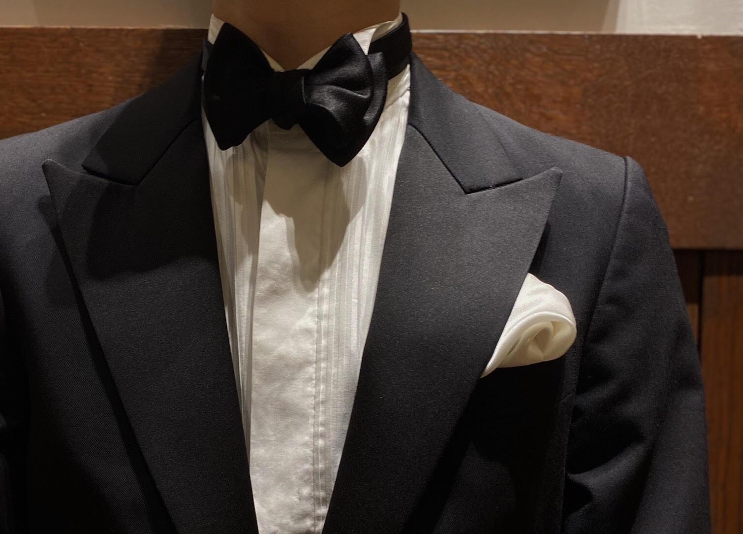 ザ・トリートドレッシング名古屋店にて人気のブラックのタキシードのコーディネートにおすすめの100HANDSのプリーツのフォーマルシャツ