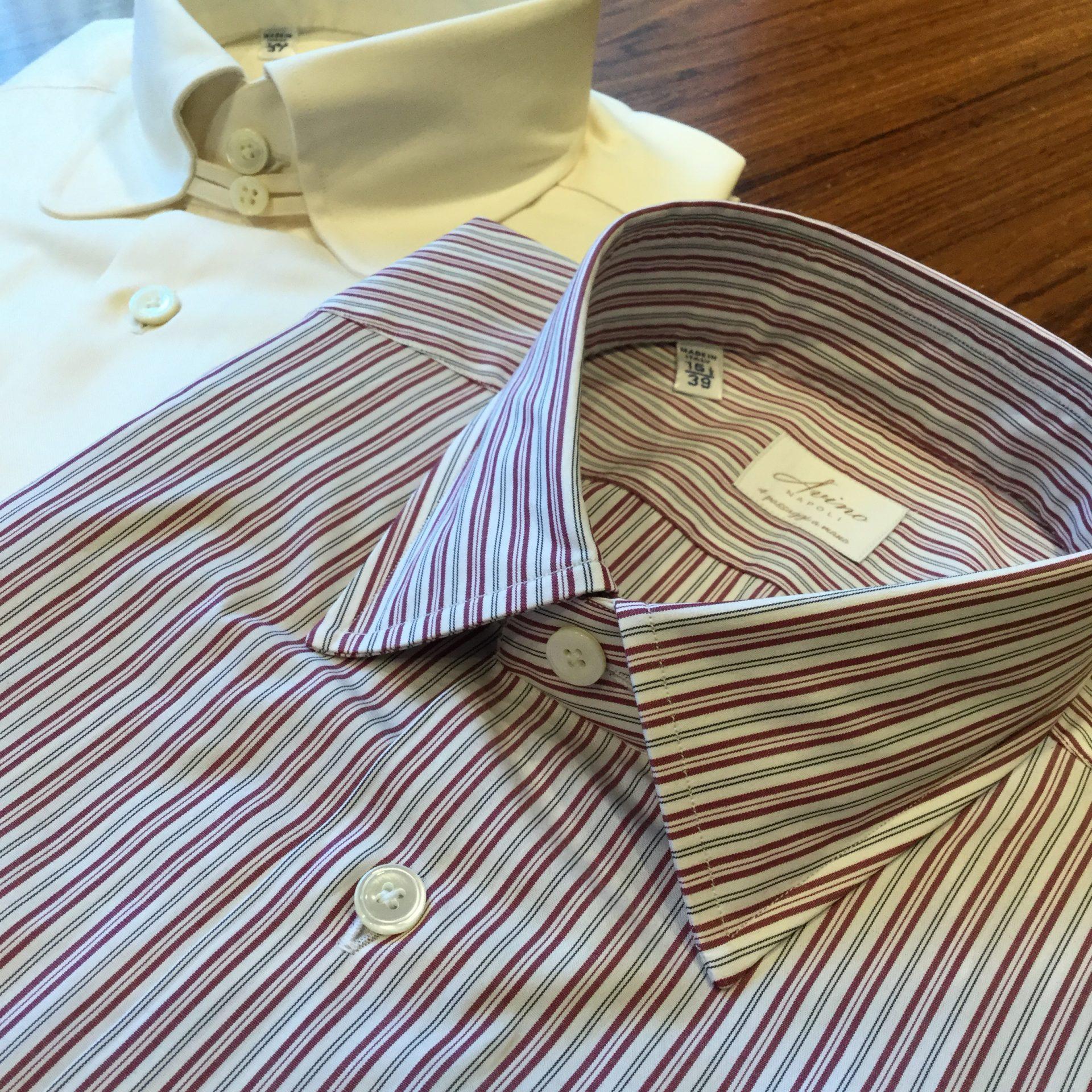 トリートジェントルマンがご紹介するアヴィーノラボラトリオナポレターノのオルタネートストライプシャツ
