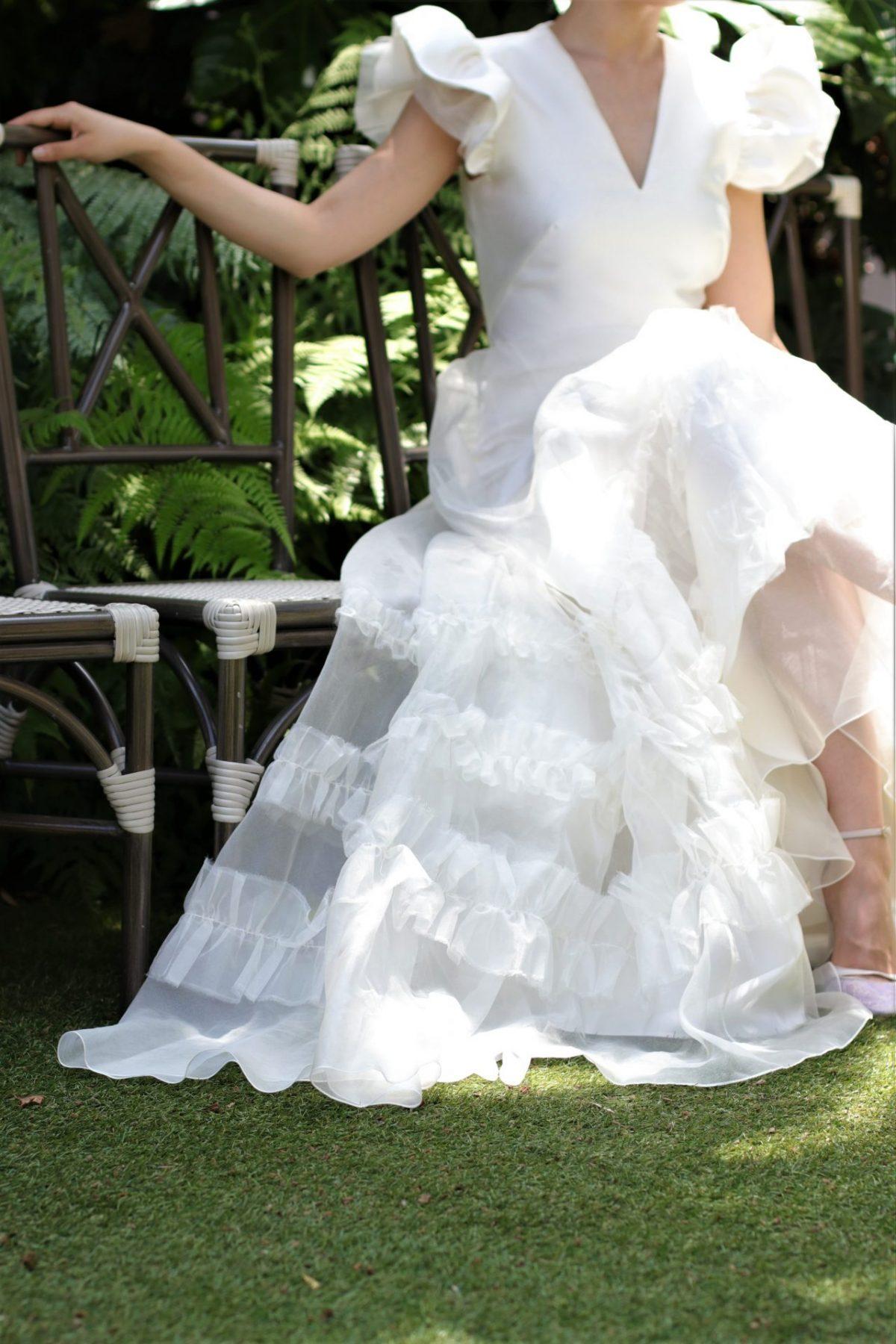 ガーデンウェディングがレストランウェディングの花嫁様に人気のザ・トリート・ドレッシング アディション店では、前撮りや披露宴で写真映えするようなオシャレで可愛いインポートドレスをレンタルで取り扱っています