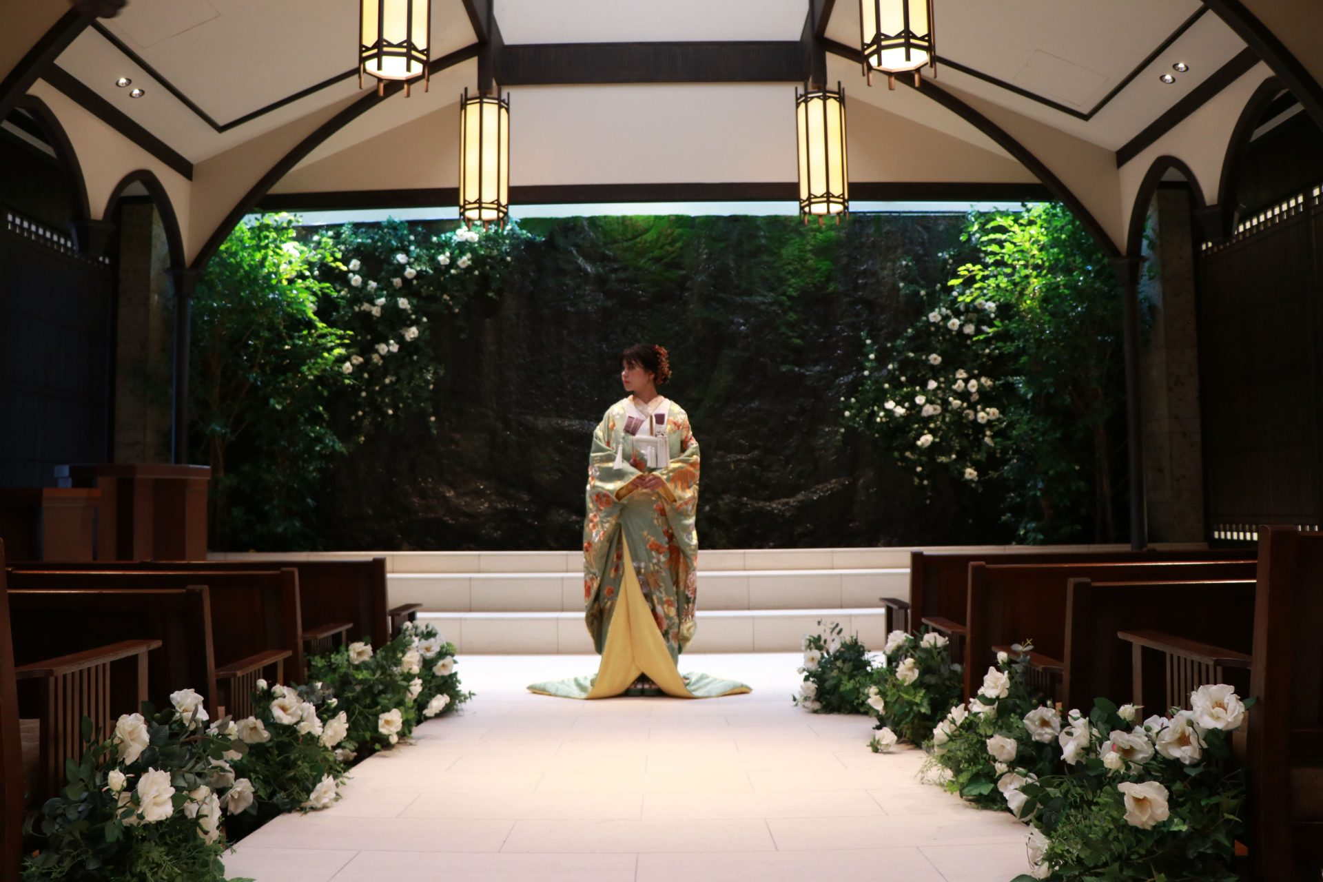 THE TREAT DRESSINGがTHE KAWABUN NAGOYAでお式や前撮りをされる花嫁様におすすめをする色打掛のコーディネート