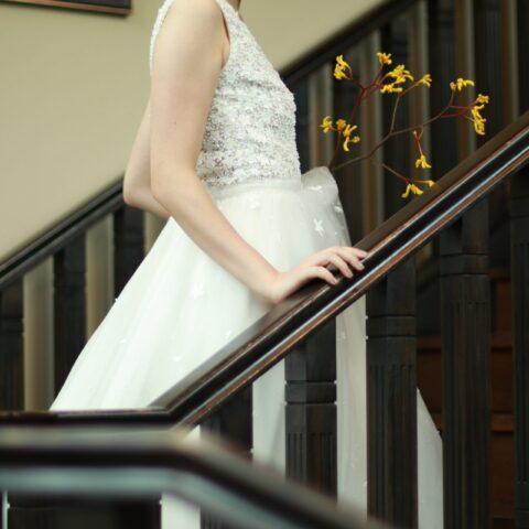THE KAWABUN NAGOYAでお式をされる花嫁様におすすめのリームアクラのチュールのAラインのウエディングドレス