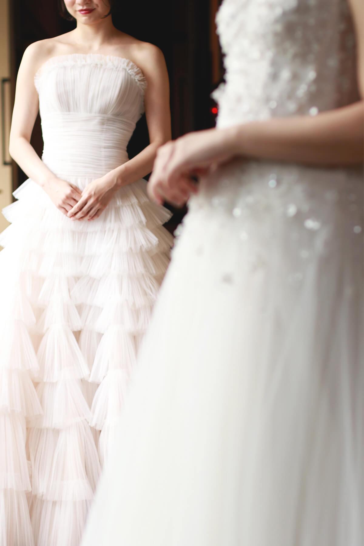 ザ・カワブンナゴヤでお式をされる花嫁様におすすめのマーク・イングラム・フォー・ヴァレンティー二のウェディングドレス