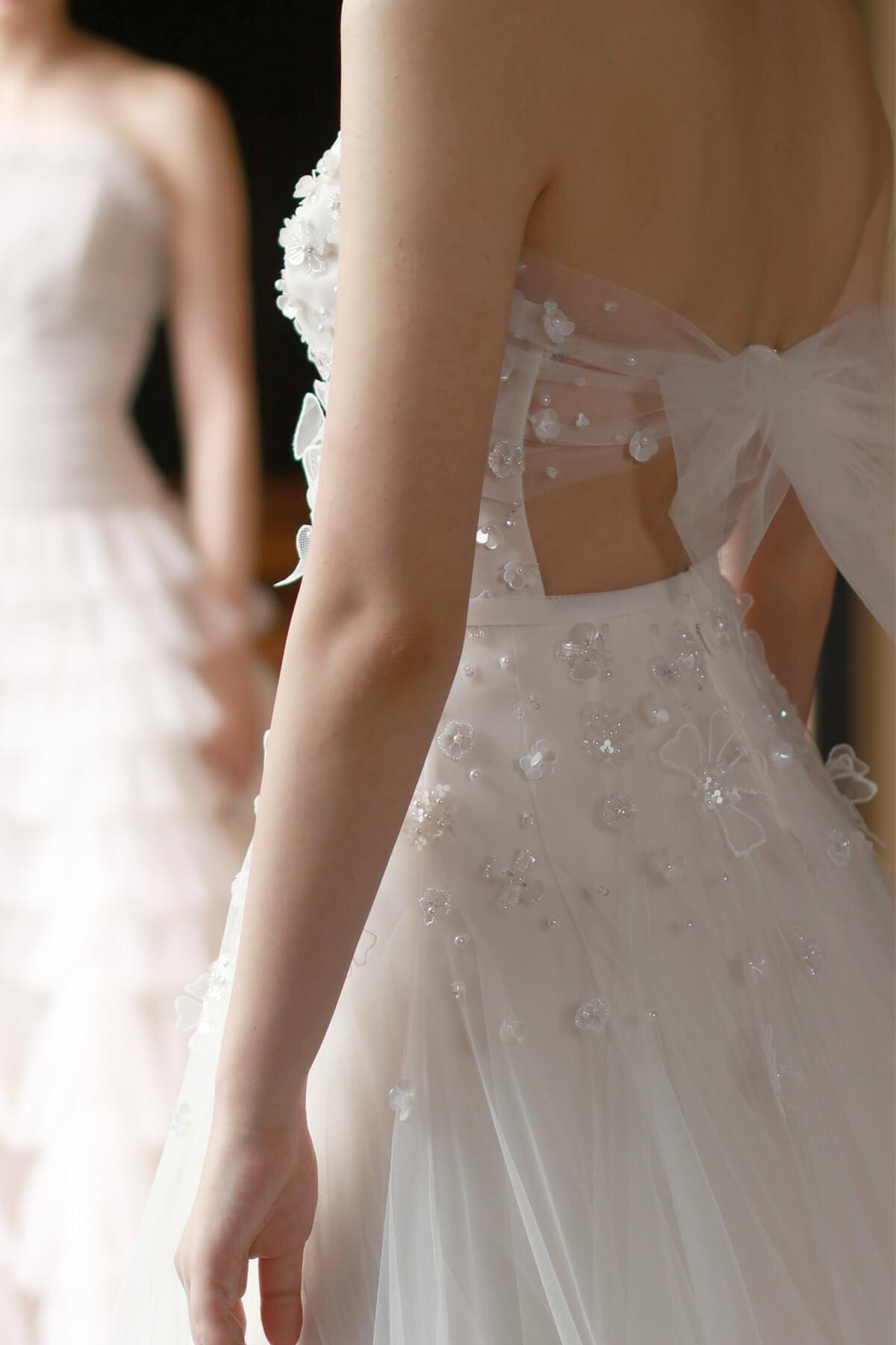 ザ・トリートドレッシング名古屋店提携の結婚式場THE KAWABUN NAGOYAにて前撮りを予定されている花嫁様へおすすめのウェディングドレス