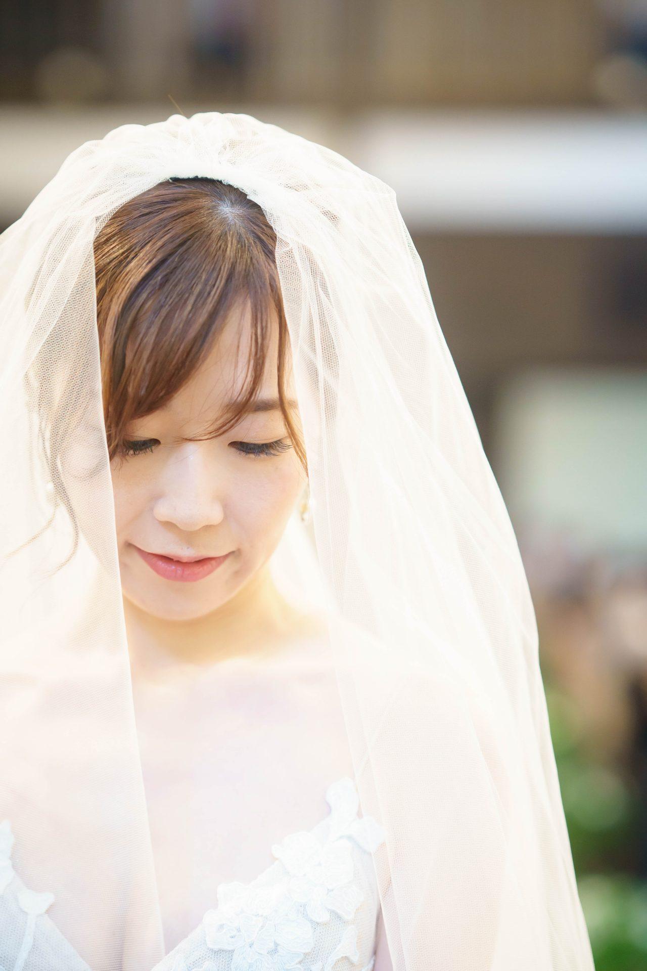 フォーチュンガーデン京都店の提携会場フォーチュンガーデン京都で結婚式を挙げられる新婦様におすすめの透明感が美しい無地ベール