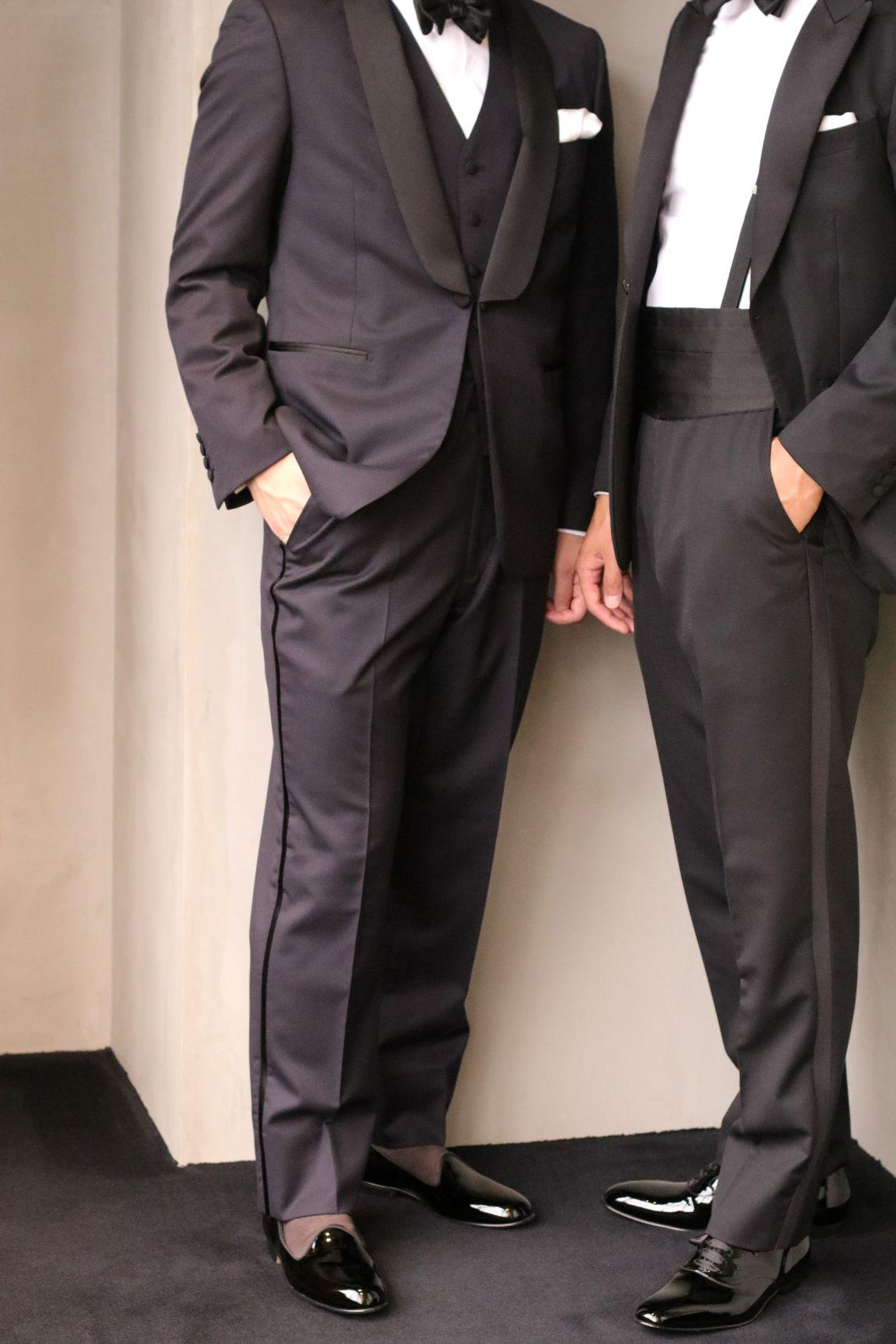 東京表参道の人気ドレスショップ ザ・トリート・ドレッシングがご提案する、ブラックやネイビーのフォーマルタキシードに相応しいイギリスのブランド、EDWARD GREEN(エドワード グリーン)のオペラシューズやレースアップシューズをご紹介いたします